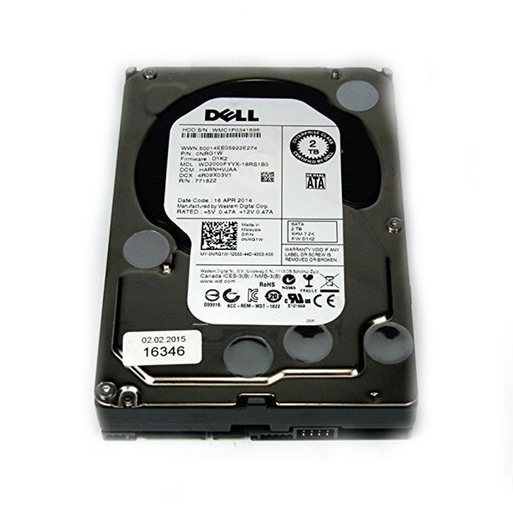 DELL NRG1W-DEL Dell RE NRG1W 2000GB / 2TB 7.2K 64MB Enterprise SATA Hard Drive