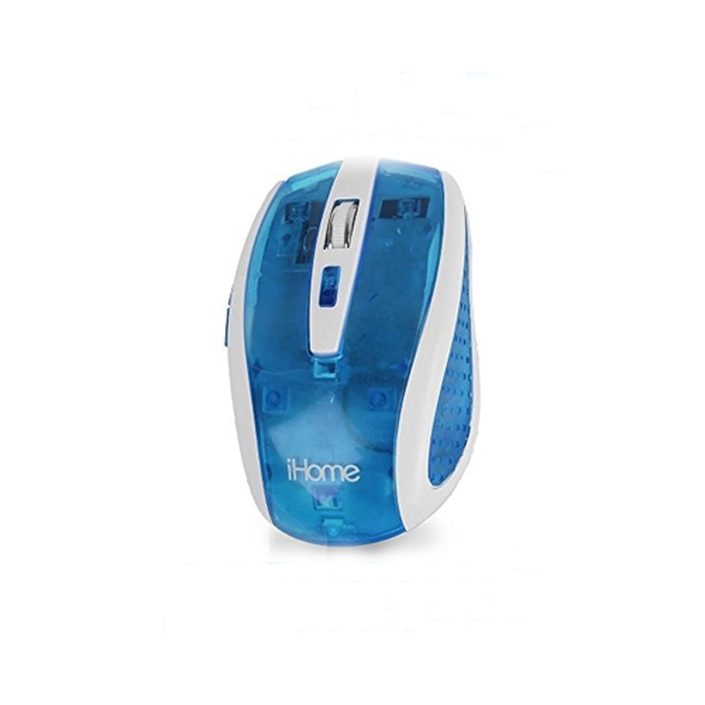 iHome by Lifeworks Technology IH-M2100N Translucent Wireless Optical Mouse (Blue)