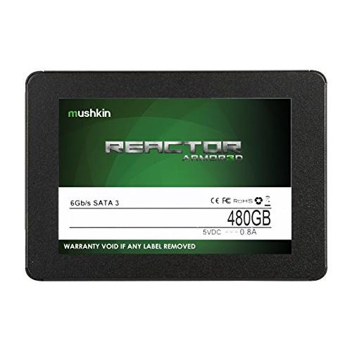 Mushkin REACTOR ARMOR3D - 480GB Internal Solid State Drive (SSD) - 2.5 Inch - SATA III - 6Gb/s - 3D Vertical MLC - 7mm - MKNSSDRE480GB-3D