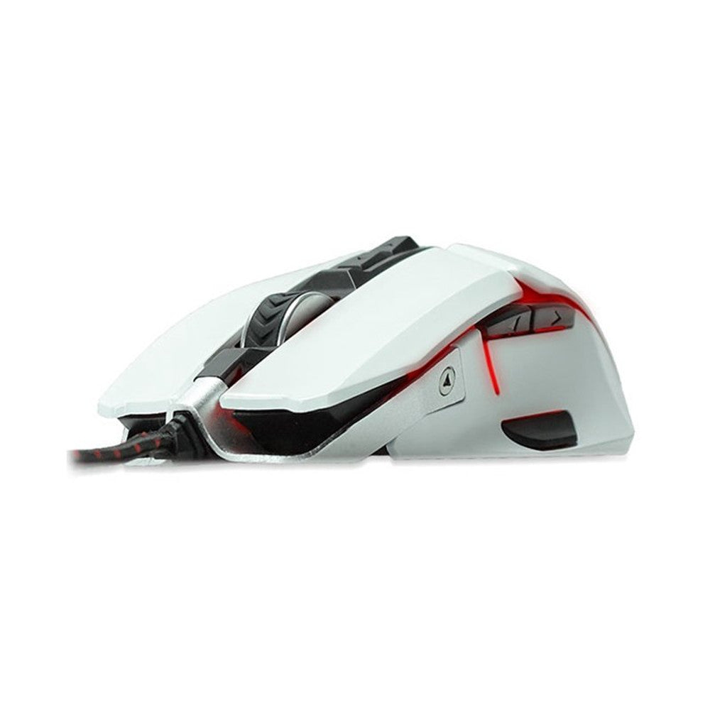 RIOTORO AUROX Gaming Mouse with RGB Multicolor Lighting, [WHITE] 8 Programmable Buttons, 10,000 DPI Limited Edition [MR-800XPW]