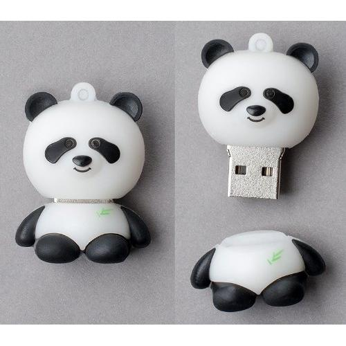 Leegoal Creative 8GB Panda Shape USB Memory Stick Flash Drive,Black and White