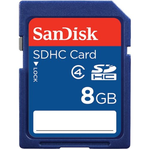 SanDisk SDHC Memory Card, Class 4, 8GB