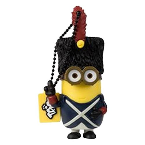 Tribe FD021513 Minions Despicable Me Vive Le Minion USB Stick 16GB Pen Drive, Gift Idea 3D Figure, PVC USB Gadget with Key holder Key Ring, Yellow