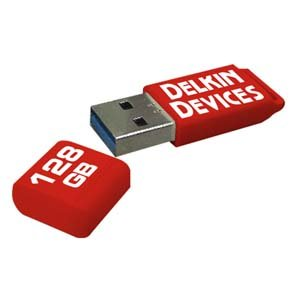 Delkin PocketFlash USB 3.0 Flash Drive, 128GB (DDUSB3-128GB)