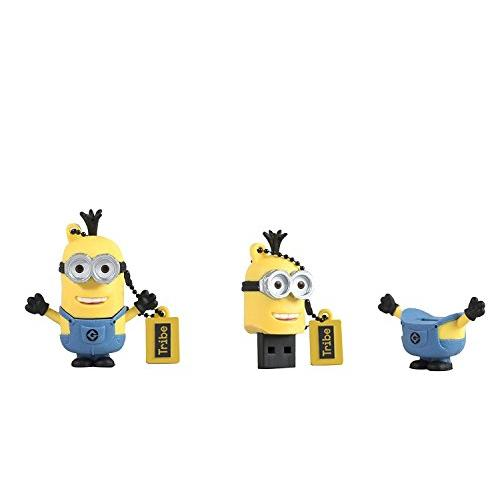 Tribe FD021519 Minions Despicable Me Kevin USB Stick 16GB Pen Drive, Gift Idea 3D Figure, PVC USB Gadget with Key holder Key Ring, Yellow