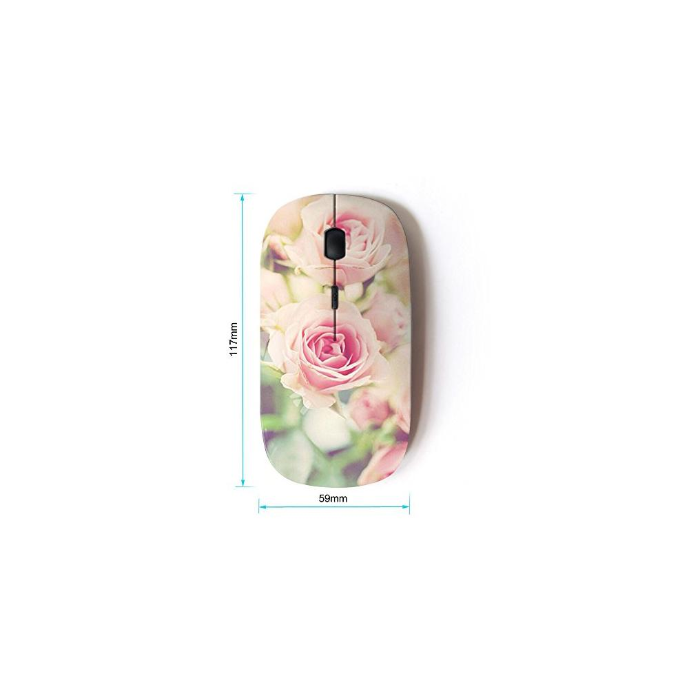 KOOLmouse [ Optical 2.4G Wireless Mouse ] [ Rose Vignette Pink Floral Spring Nature ]