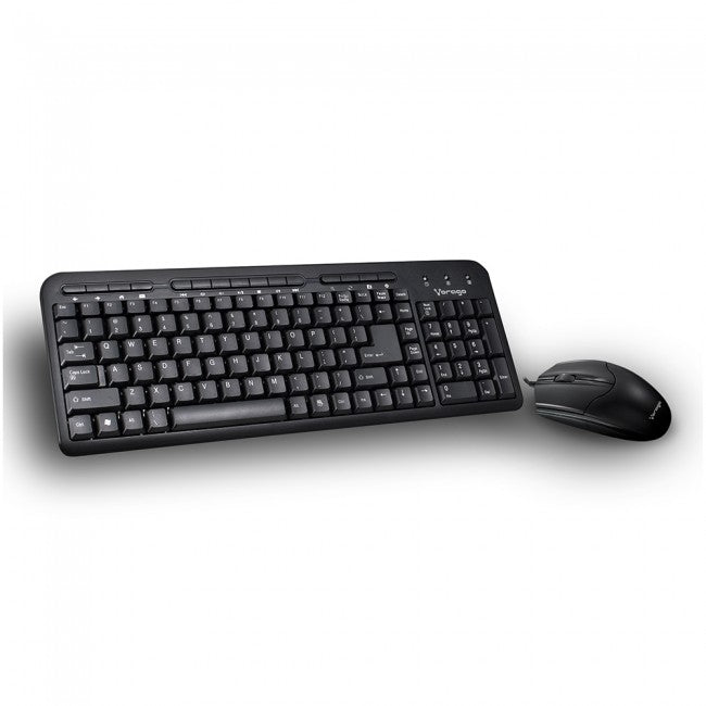 KIT VORAGO KM-105 TECLADO Y MOUSE ALAMBRICO MULTIMEDIA USB