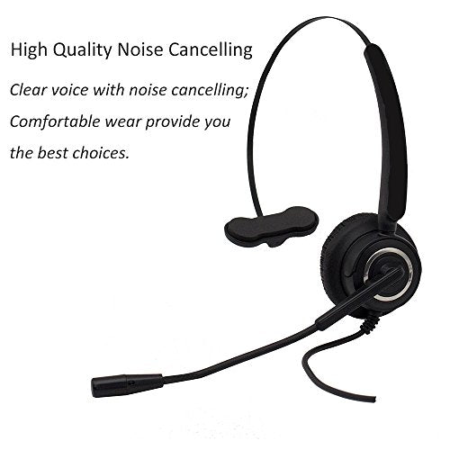 CALLANY Computer USB Headset Over-The-Head Hands-free Wired Headphone with Noise Cancelling Mic– Business Headset for Call Center (VH510 USB Monaural Headset)