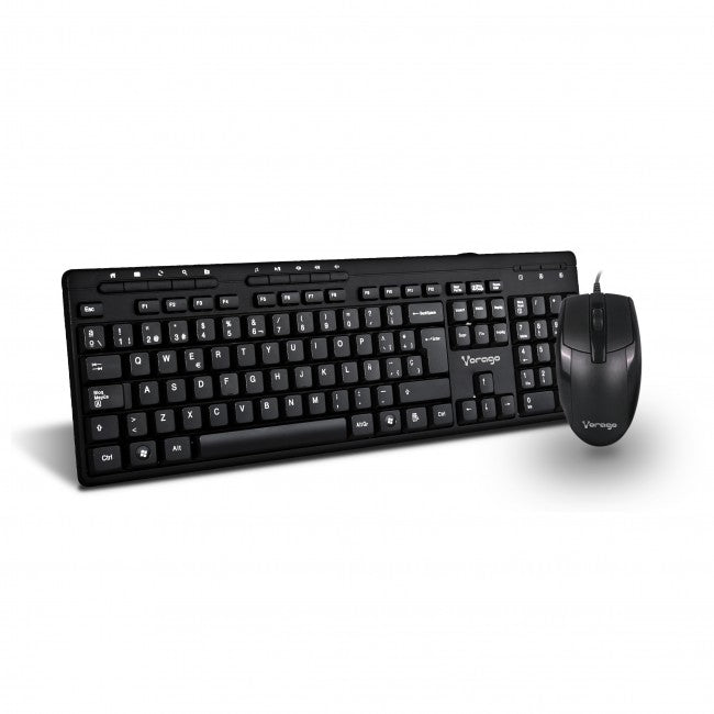 KIT VORAGO KM-104 TECLADO Y MOUSE ALAMBRICO MULTIMEDIA USB
