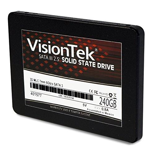 "VisionTek Products 900979 VisionTek 240GB 3D MLC 7mm 2.5"" Solid State Drive 550 MB/s Read 315 MB/s Write"