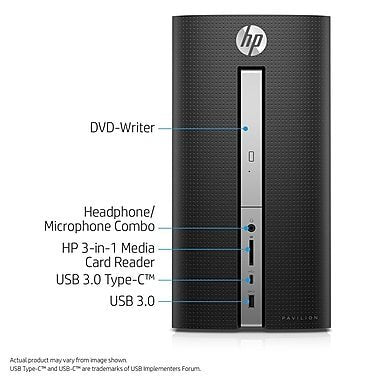New Newest HP Pavilion Flagship High Performance Desktop, AMD A12-9800 3.8GHz, 16GB DDR4 RAM, 1TB HDD, DVD RW, Bluetooth 4.2, WIFI, Windows 10, Wired Keyboard and Mouse
