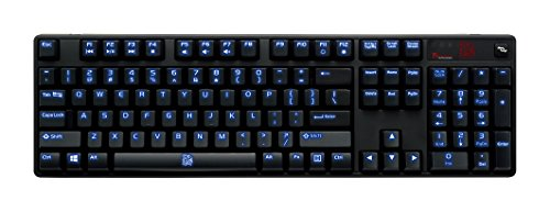 Thermaltake Tt e SPORTS Poseidon Z Blue Switches with 4-Level Brightness Blue LED Mechanical Gaming Keyboard KB-PIZ-KLBLUS-06