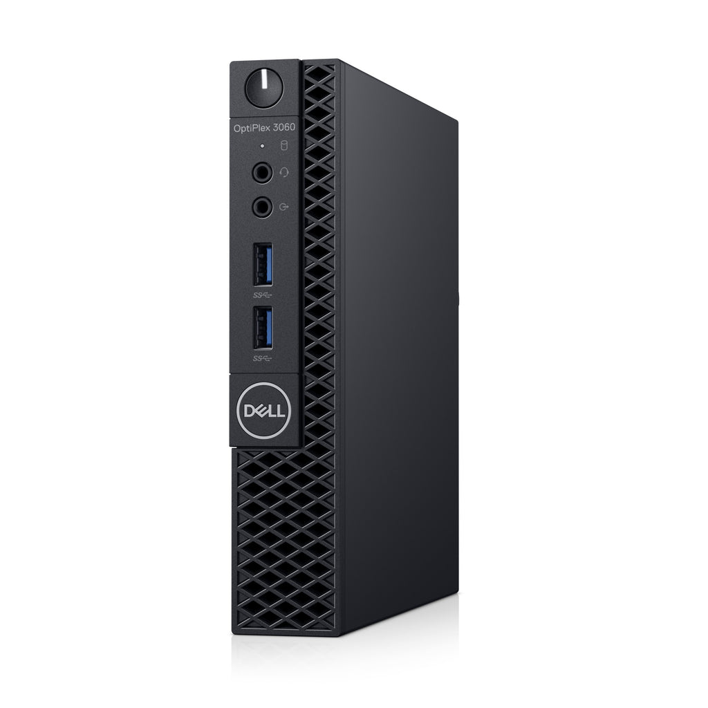 Dell OptiPlex 3000 3060 Desktop Computer - Intel Core i5 (8th Gen) i5-8500T 2.10 GHz - 8 GB DDR4 SDRAM - 256 GB SSD - Windows 10 Pro 64-bit (English/French/Spanish) - Micro PC - Wireless LAN - Bluetoo