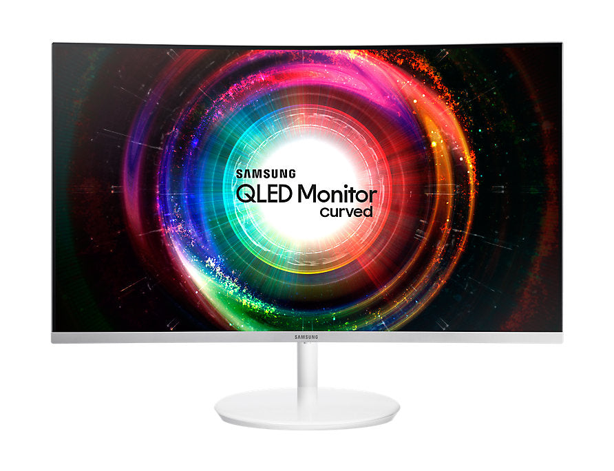 Monitor Led Samsung 27 Widescreen Wqhd 2560X1440 LC27H711QELXZX Blanco  Hdmi D. Port Curvo