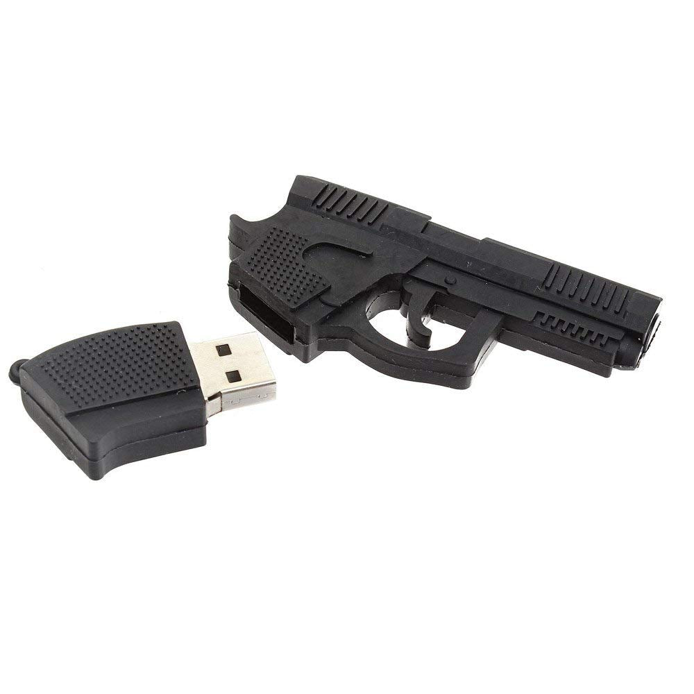 Phoenixnet High Quality Gun Shape USB Flash Drive USB 2.0 Black Gun USB Stick 32GB