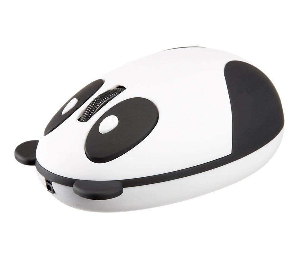 Zonman Wireless Mouse 2.4G Rechargeable Super Cute Wireless Mouse Optical Cartoon Panda Mouse novel type wireless mouse - Designed Specifically for Women Girls Children