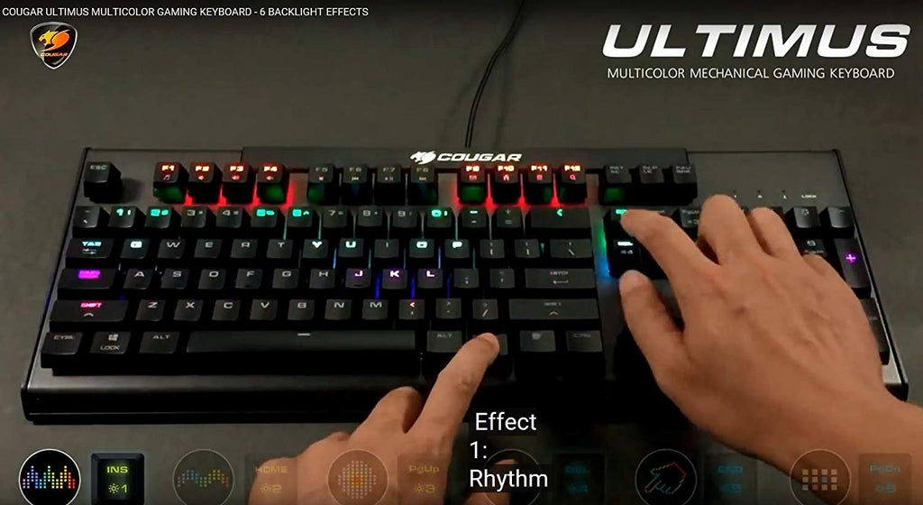 Cougar Ultimus Multi-color Mechanical Gaming Keyboard (Blue Switches)