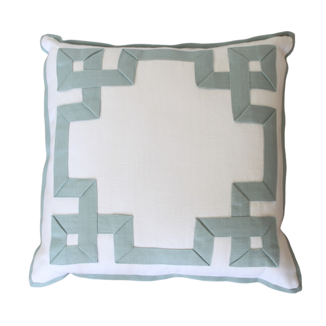 Zephyr Fretwork Pillow