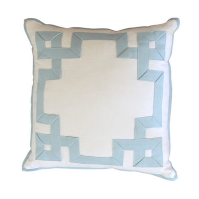 Azure Fretwork Pillow
