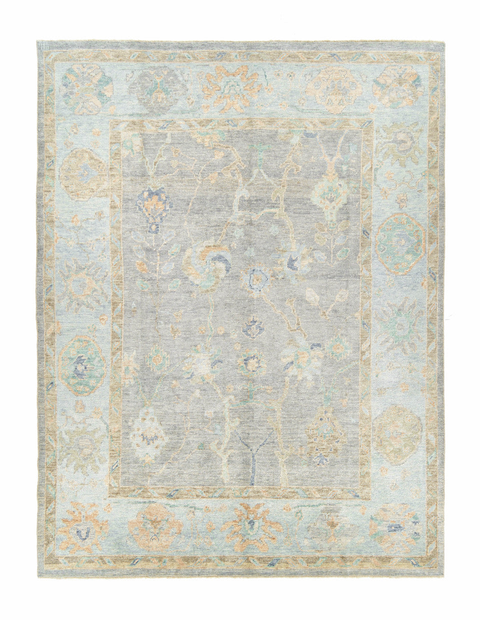 Hand-knotted Oushak Area Rug #12