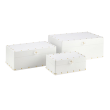White Faux Studded Box