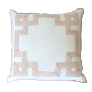 Pink Fretwork Pillow