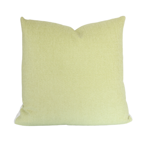 The Collective Label Box Pillow in Spring Green