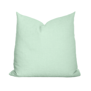 The Collective Label Box Pillow in Seafoam