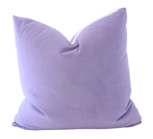 The Collective Label Box Pillow in Lavender