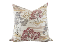 Chinoiserie Field of Trees Pillow in Lavender