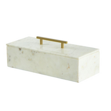 Marble Box with Brass Handle