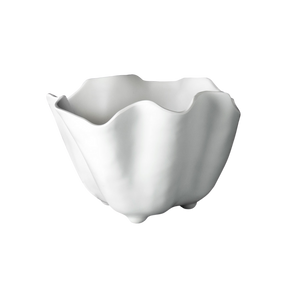 Large Wavy Ice Bucket in White Melamine