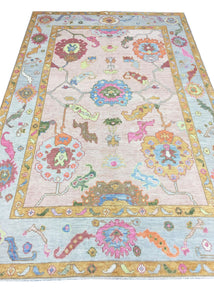 Hand-knotted Oushak Area Rug #18