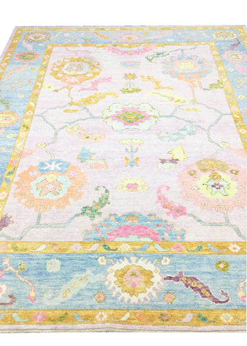 Hand-knotted Oushak Area Rug #20