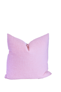 The Collective Label Box Pillow in Peony