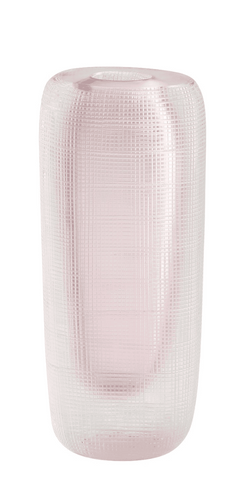 Blush Grid Vase, Small