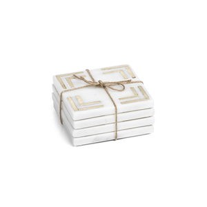Square Marble Coasters, Set of 4