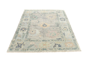 Hand-knotted Oushak Area Rug #1908055