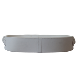 White Faux Leather Tray