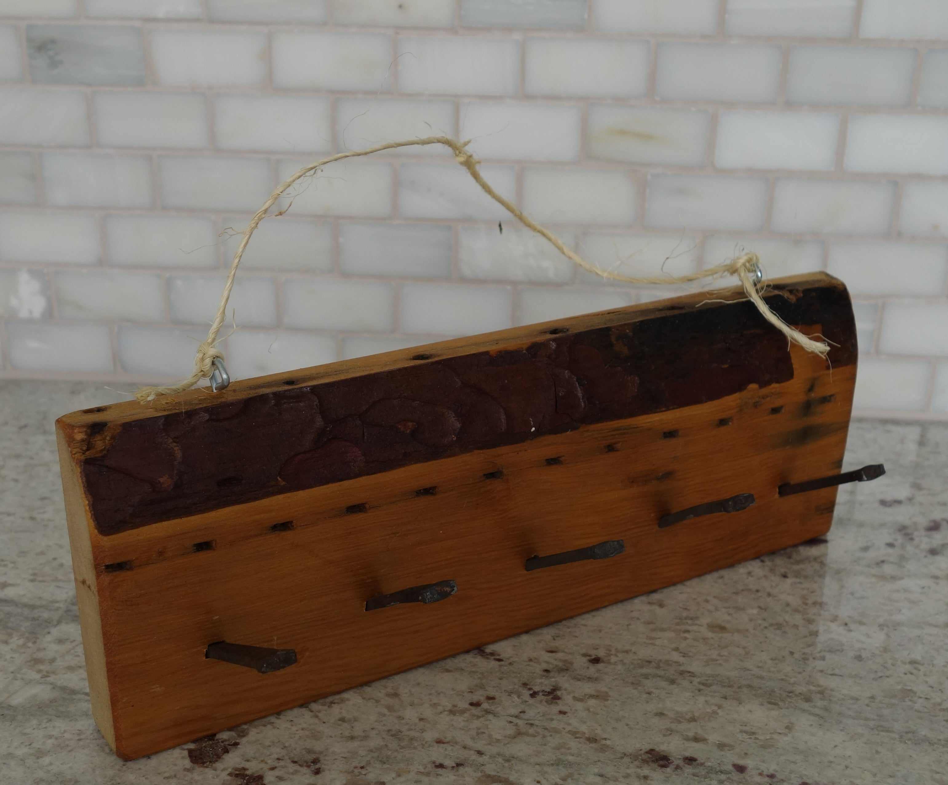 Rustic Wood KeyJewelry Holder Home Organizer CP Custom Woodworking