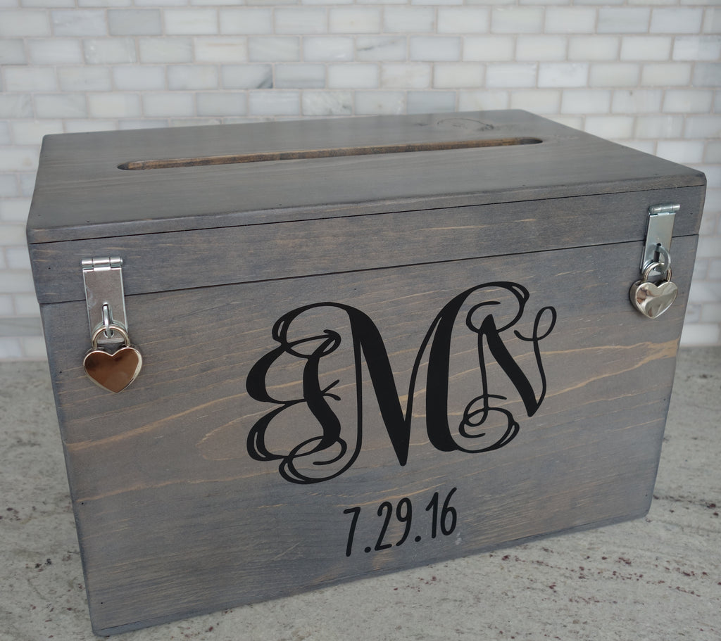 handmade wood wedding card box, wedding gift box, wedding card holder, wedding decor, memory box