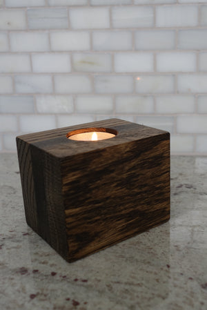 Handmade Wood Tea Light/Votive Candle Holder, table decor
