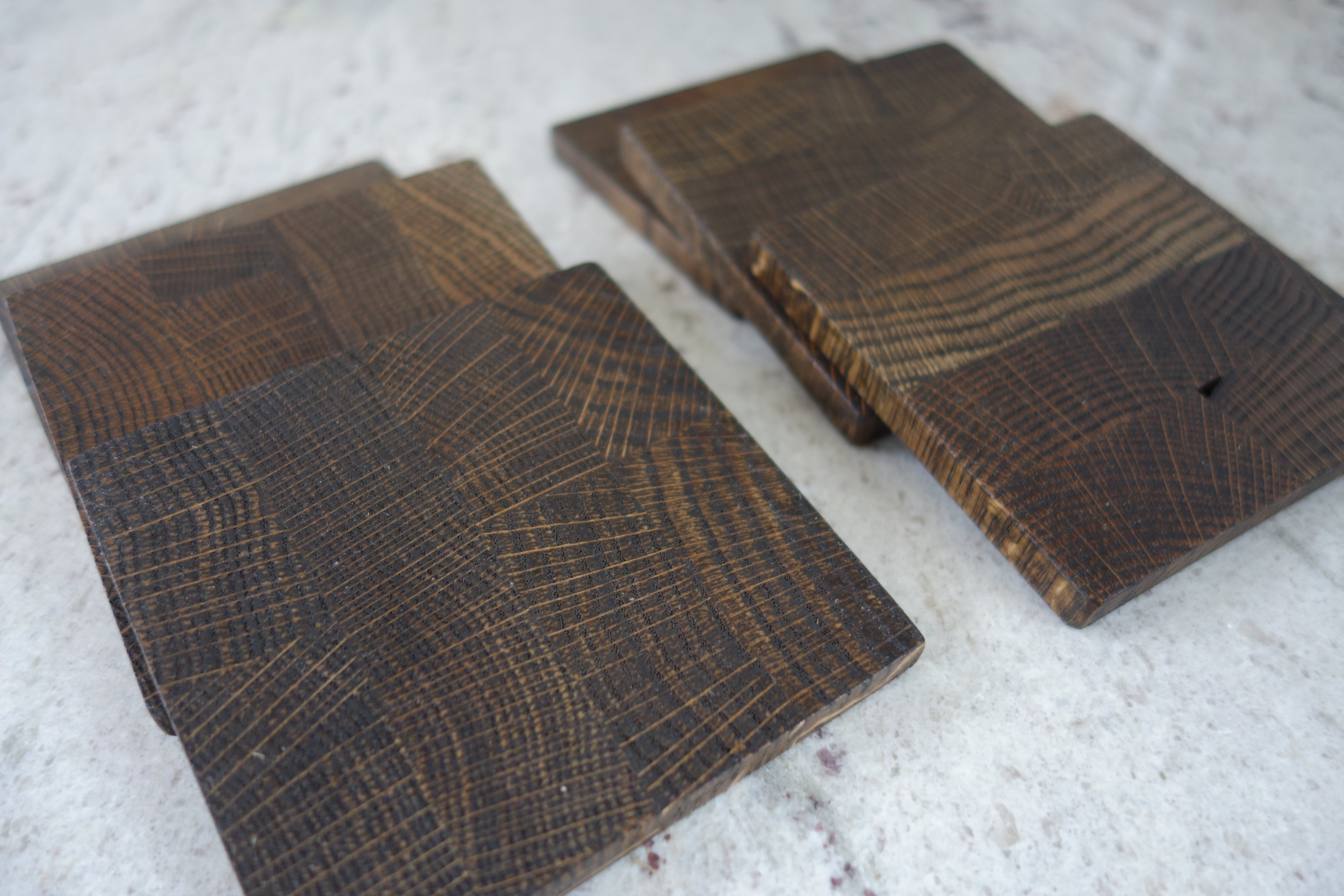 Handmade End Grain Wood Coasters, drink coasters, wood trivet, wood tray, candle holder