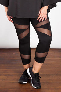 Svartar Mesh Leggings