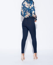 Bláar high waist galla skinny jeggings