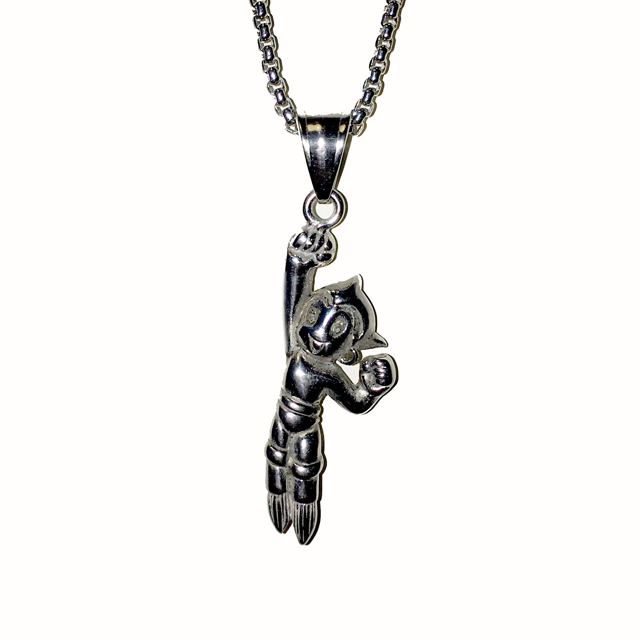 intl baby boy with steel stroili necklace en crystals