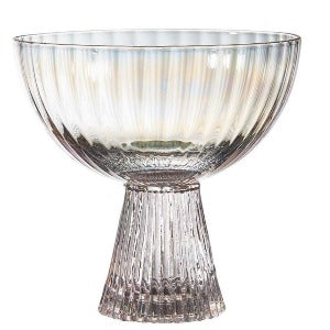Iridescent Beveled Coupe Glass