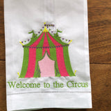 Welcome to the Circus Guest Towel