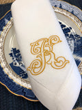Jewelers Monogram Napkin