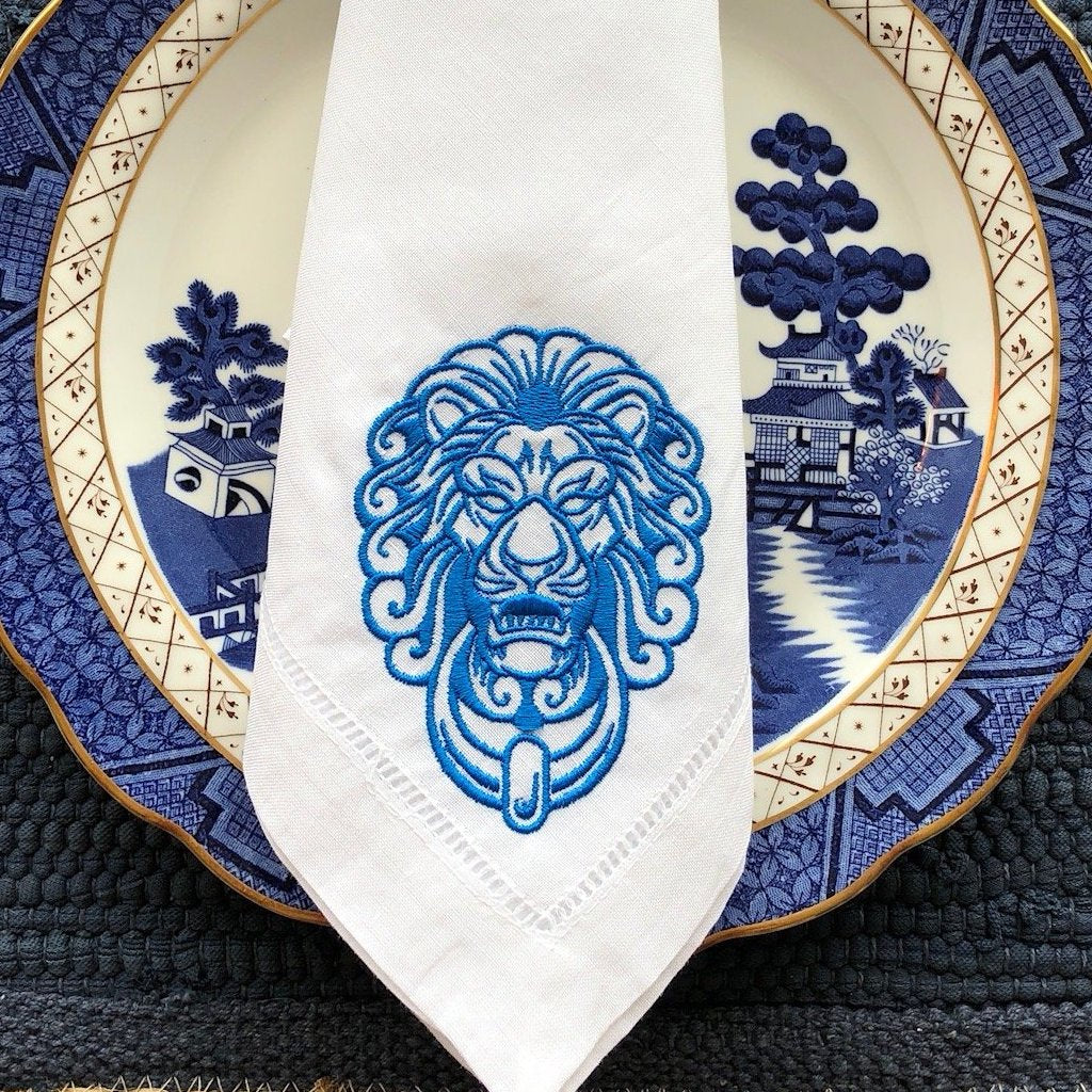 Lion Door Monogram Napkin